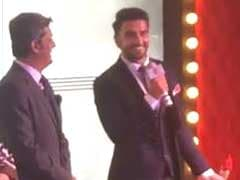 What Ranveer Said When he Collected Deepika's 'Woman of the Year' Award