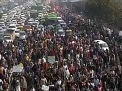 Sanitation Workers Block Roads In Delhi, Throw Traffic Out Of Gear
