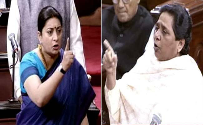 'Who Uses A Child As A Political Tool?': Smriti Irani vs Mayawati In Rajya Sabha