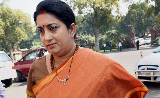 Education Minister Smriti Irani Makes Surprise Visit To IIT Hostel