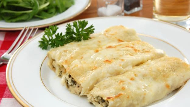 Spinach & Mushroom Cannelloni