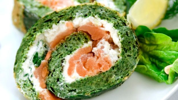 Cheesy Spinach Roulade