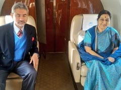 Foreign Minister Sushma Swaraj Leaves For Sri Lanka