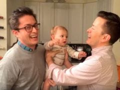 Two Much Trouble: Adorable Baby Confused by Dad's Twin is Going Viral