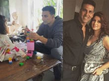 Akshay Kumar Takes a Break For Children, Twinkle Off For a Shoot