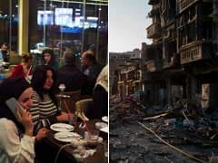A Tale Of Two Cities In Aleppo: Rubble On One Side, Packed Restaurants On The Other