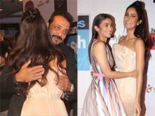Katrina Kaif Hugs Sanjay Dutt, Alia Bhatt at Awards. Flashbulbs Pop