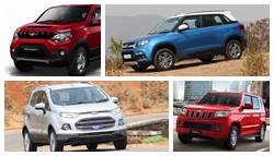 Mahindra NuvoSport vs Maruti Suzuki Vitara Brezza vs Ford EcoSport vs Mahindra TUV300: Specifications Comparison