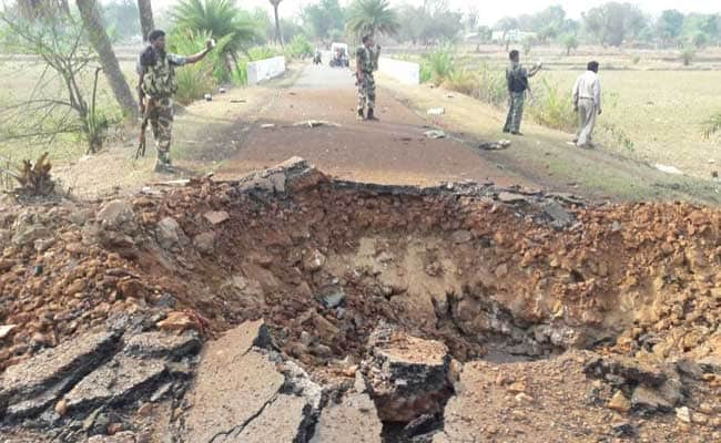In Naxal Attack In Chattisgarh, 7 Killed, Weapons Stolen, A 4-Foot Crater
