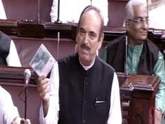 Offering CD To Parliament, Ghulam Nabi Azad Denies Comparing RSS To ISIS