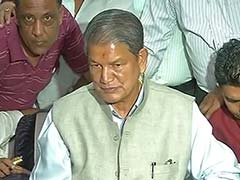 Harish Rawat Shown Black Flags, His Convoy Pelted With Stones In Dehradun