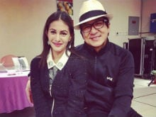 Jackie Chan Impressed With Amyra Dastur, Gets Her Farewell Cake