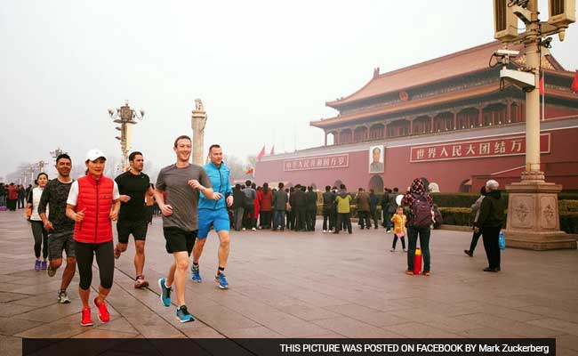 Mark Zuckerberg's run in Beijing's smog stirs Chinese public