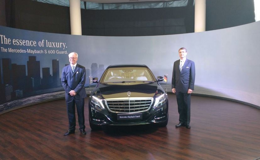 Mercedes maybach s600 guard launched in india price for Mercedes benz prices in india