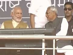 When PM Modi Shared Chopper Ride And A Laugh With Nitish Kumar In Patna