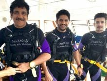 Nagarjuna Goes Scuba Diving With Sons in Maldives
