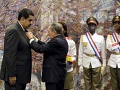 Cuba Honors Venezuelan President With Medal Ahead Of Barack Obama's Visit