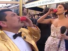 Priyanka Chopra Downs Tequila in Oscars Footage, Quips 'Just The Kind'