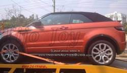 Land Rover Range Rover Evoque Convertible Spotted in India
