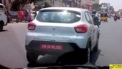 Renault Kwid 1.0-Litre Version Spotted Testing Ahead of June Launch
