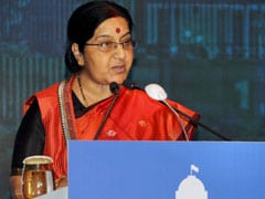 Sushma Swaraj Arrives In Nepal To Attend SAARC Ministerial Meeting