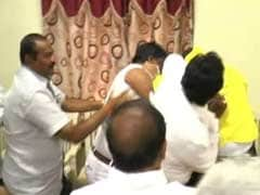 TDP Councillors In Street Fight At Meeting, Clothes Torn