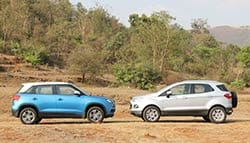 Comparison Review: Maruti Suzuki Vitara Brezza vs Ford EcoSport vs Hyundai Creta