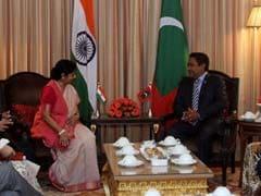 Union Minister Sushma Swaraj Meets Maldivian President