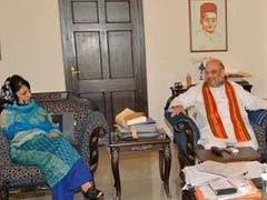 Mehbooba Mufti Meets BJP President Amit Shah