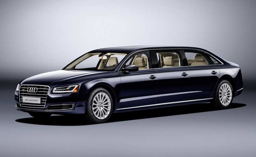 Audi A8 L Extended Revealed Comes With Six Doors Ndtv