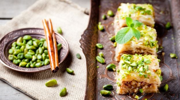The baklava is probably the most popular dessert across all Middle Eastern cuisines