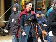 Benedict Cumberbatch Visits Comic Book Store in Doctor Strange Costume