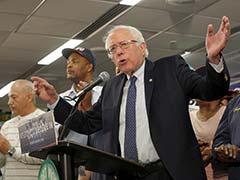 Crowd Cheers As Presidential Candidate Sanders Drops In On Picket Line