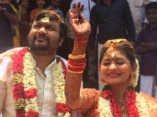 Actors Bobby Simhaa, Reshmi Menon Get Married in Chennai