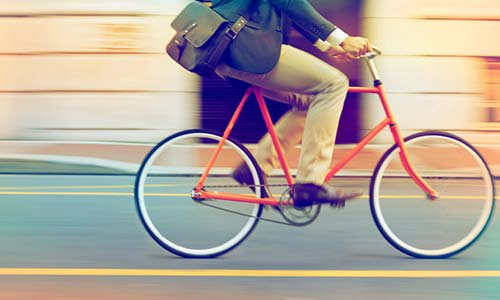 Cycling to work reduces stress, researchers find