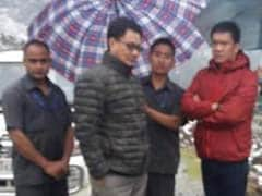 Bad Weather Forces Chopper With Kiren Rijiju To Land