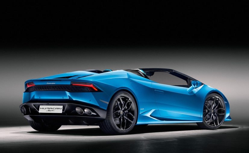 lamborghini huracan spyder launch date for india announced features specs. Black Bedroom Furniture Sets. Home Design Ideas