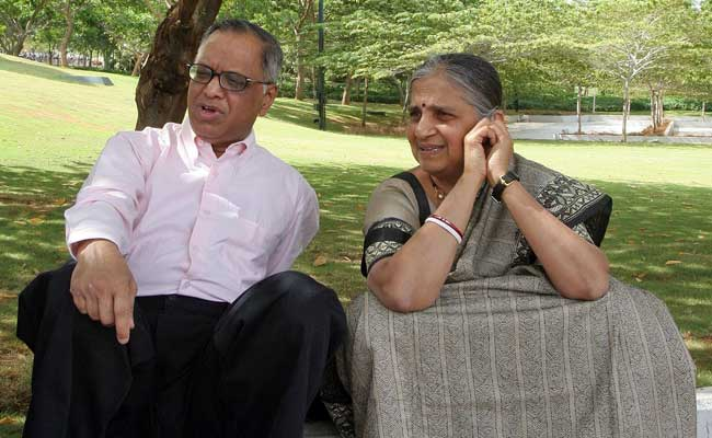 Image result for narayana murthy and his wife