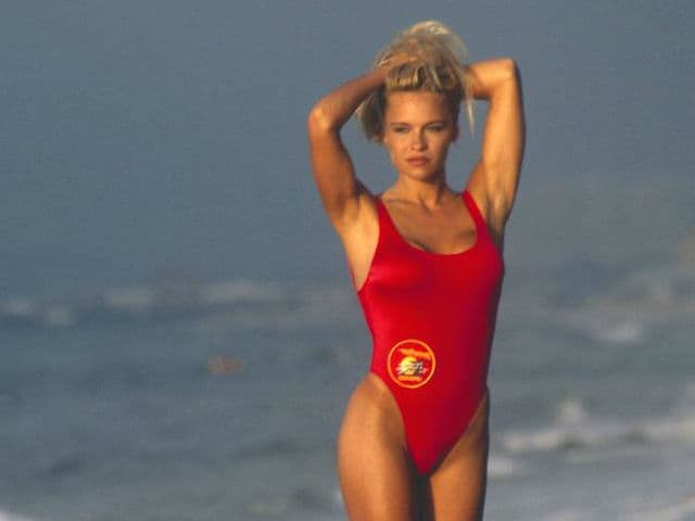 Pamela Anderson in a still from TV show Baywatch