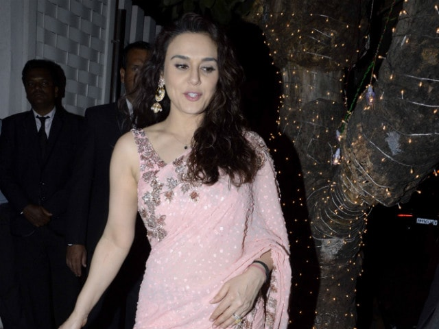 Preity Zinta Wears Manish Malhotra For IPL Opening Ceremony