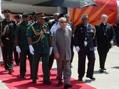 President Pranab Mukherjee Arrives In Papua New Guinea