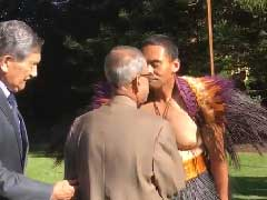 When President Pranab Mukherjee Rubbed Nose With Maori Chief In New Zealand