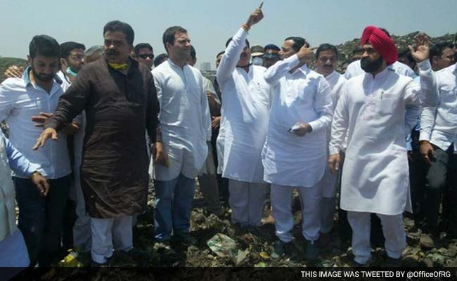 Rahul Gandhi Tours Deonar Garbage Dump, Likely To Become Election Issue