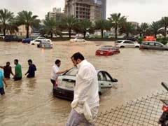 Traffic Chaos, Schools Shut As Riyadh Hit By Rare Flooding