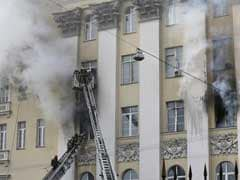 Fire Rips Through Russian Defence Ministry Building In Moscow
