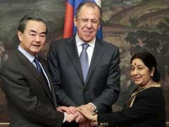 Foreign Minister Sushma Swaraj Meets Russian Counterpart Sergey Lavrov