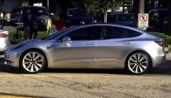 Tesla Model 3 Spotted on Road for the First Time During Video Shoot