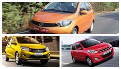 Tata Tiago vs Maruti Suzuki Celerio vs Hyundai i10: Specifications Comparison