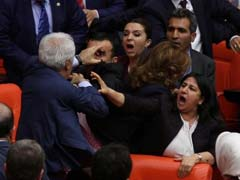 Punches Thrown in Turkish Parliament As Lawmakers 'Debate' Law On Migration