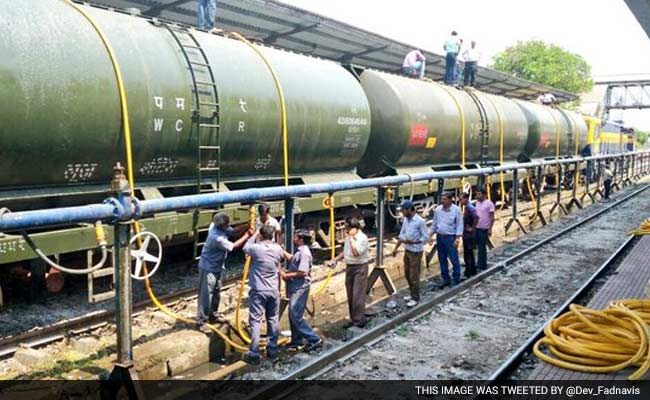 Railway Wagons Carrying Water For Latur Reach Miraj